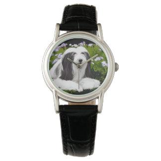 Relógio De Pulso Pintura farpada do Collie - arte original bonito