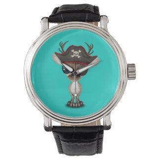 Relógio De Pulso Pirata bonito da rena do bebê