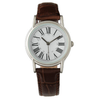 Relógio De Pulso PixDezines Numeros romano+Tempo militar
