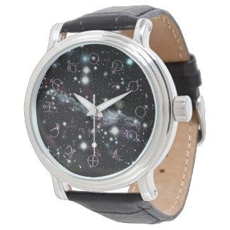 Relógio de pulso planetário da astronomia de