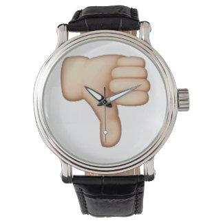 Relógio De Pulso Polegares para baixo - Emoji