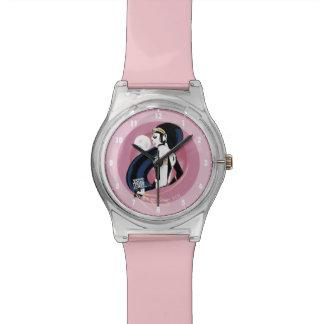 Relógio De Pulso Pop art do perfil da mulher maravilha da liga de