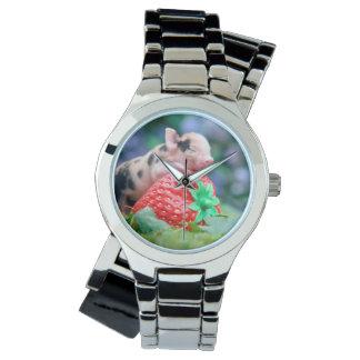 Relógio De Pulso porco da morango