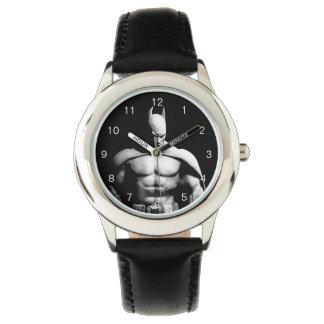 Relógio De Pulso Pose larga preto e branco da cidade | Batman de