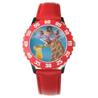 Relógio De Pulso Praia do girafa - girafa engraçado