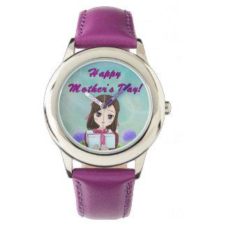 Relógio De Pulso Presente feliz do dia das mães (customizável)