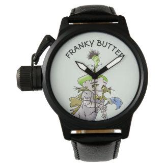 Relógio De Pulso Preto ESTRANGEIRO do protetor da coroa dos