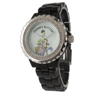 Relógio De Pulso Preto ESTRANGEIRO Ename do cristal de rocha dos