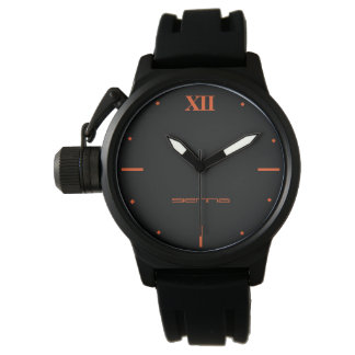 Relógio De Pulso Preto Rubb do protetor da coroa dos homens pretos