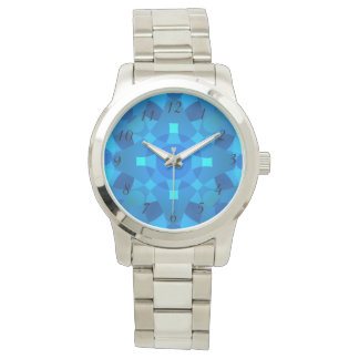 Relógio de pulso psicadélico do mosaico de néon