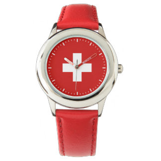 Relógio De Pulso Qualidade da bandeira da suiça