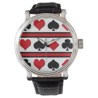 Relógio De Pulso Quatro ternos do cartão