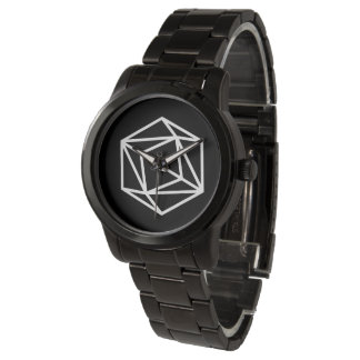 Relógio De Pulso Rainha (n)/bracelete preto desproporcionado feito