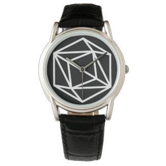 Relógio De Pulso Rainha (n)/couro preto clássico feito sob