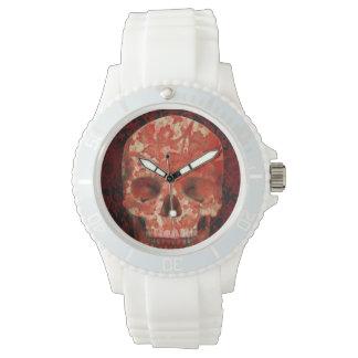 Relógio De Pulso red skull