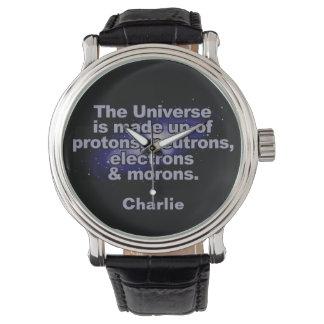 """Relógio De Pulso """"Relógios feitos sob encomenda engraçados do nome"""