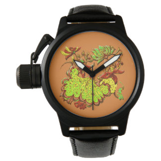 Relógio De Pulso Remake floral do motivo
