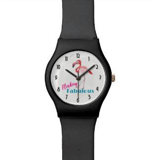 Relógio De Pulso Reunindo a tipografia fabulosa com flamingo