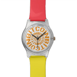 Relógio De Pulso Rolamento Bitcoin - laranja