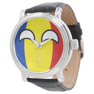 Relógio De Pulso Romania Geeky de tensão engraçado Countryball