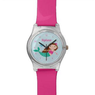 Relógio De Pulso Rosa personalizado sereia
