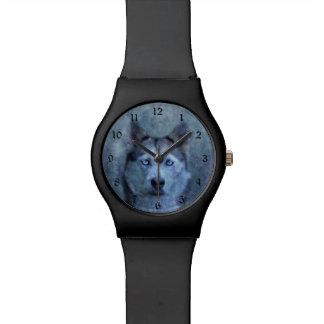 Relogio De Pulso Rouco azul do lobo