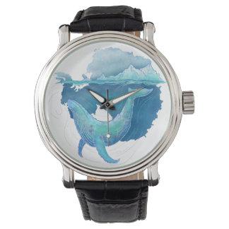 Relógio De Pulso Santuário da baleia do oceano do sul