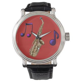 Relógio De Pulso Saxofone ambiente jazz
