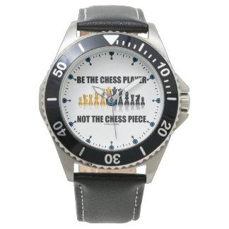 Relógio De Pulso Seja o jogador de xadrez não o humor do geek da