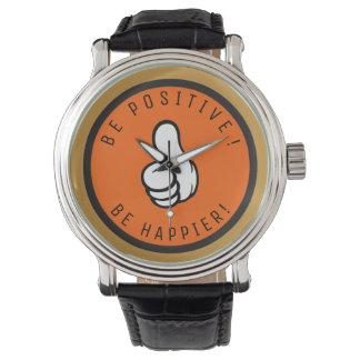Relógio De Pulso Seja positivo! Esteja mais feliz!