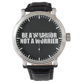 Relógio De Pulso Seja um guerreiro, não um Worrier - palavras