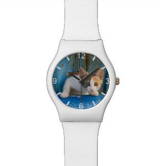 Relógio De Pulso Seletor-placa engraçada da foto dos olhos do