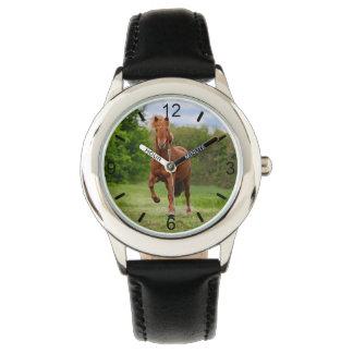 Relógio De Pulso Seletor-placa engraçada dos amantes do cavalo de