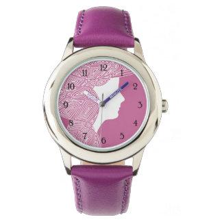 Relógio De Pulso Senhora Cor-de-rosa - numerado