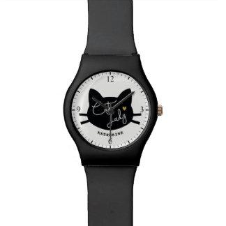 Relógio De Pulso Senhora do gato