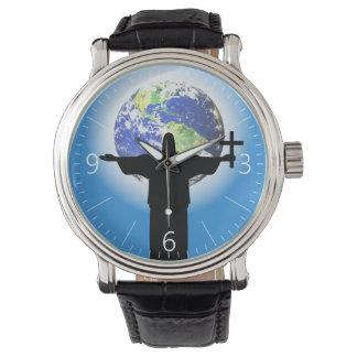 Relógio De Pulso Silhueta com uma cruz