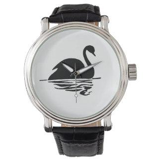 Relógio De Pulso Silhueta da cisne preta
