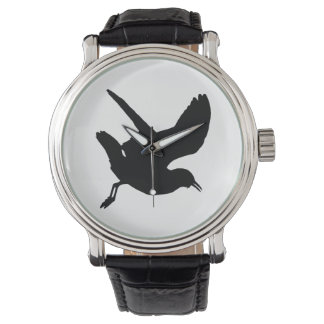 Relógio De Pulso Silhueta da gaivota