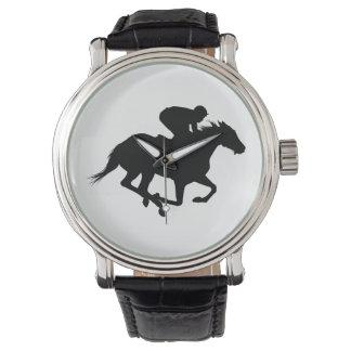 Relógio De Pulso Silhueta do cavalo de raça