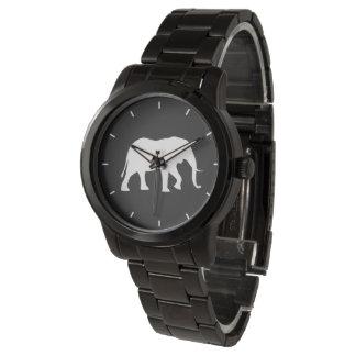 Relógio De Pulso Silhueta do elefante africano