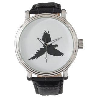 Relógio De Pulso Silhueta do papagaio