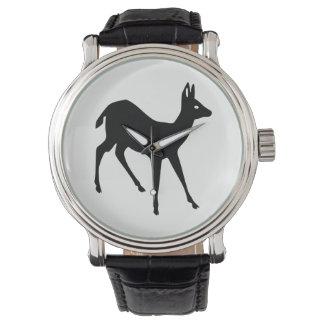 Relógio De Pulso Silhueta dos cervos