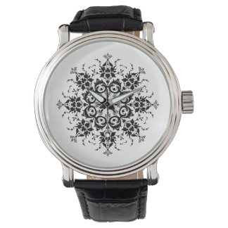 Relógio De Pulso Silhueta floral