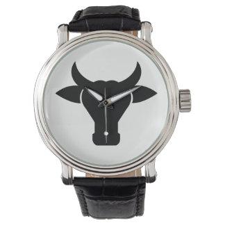 Relógio De Pulso Silhueta principal da vaca