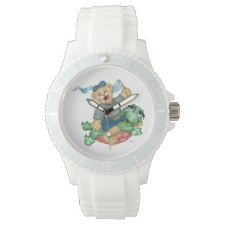 Relógio De Pulso Silicone branco desportivo dos DESENHOS ANIMADOS