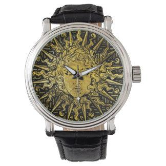 Relógio De Pulso Símbolo de Apollo Sun no teste padrão chave grego