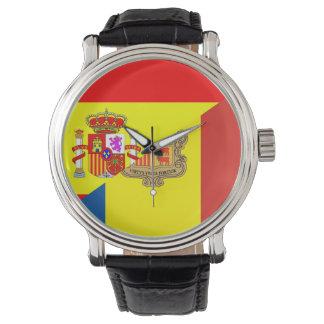 Relógio De Pulso símbolo do país da bandeira de andorra da espanha
