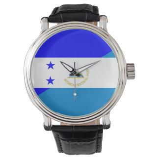 Relógio De Pulso símbolo do país da bandeira de honduras Nicarágua