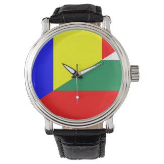 Relógio De Pulso símbolo do país da bandeira de romania Bulgária