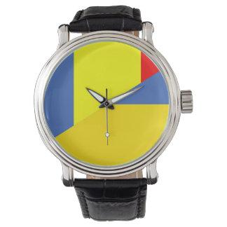 Relógio De Pulso símbolo do país da bandeira de romania Ucrânia